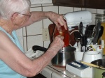 NINETY-FOUR AND STILL MAKING RED CHILE SAUCE
